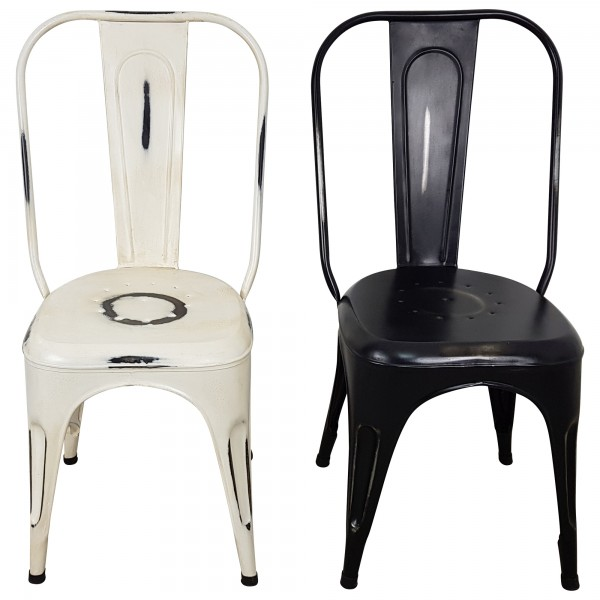 Bistro stuhl esszimmerstuhl stapelstuhl metall vintage for Esszimmerstuhl metall