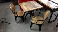 Stehtisch Tisch Esstisch Bartisch Bistrotisch 76 cm Industrial Design Massivholz