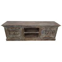 TV Lowboard Möbel Sideboard Schrank Alte Türen Recycelt Massiv Holz Shabby  Chic