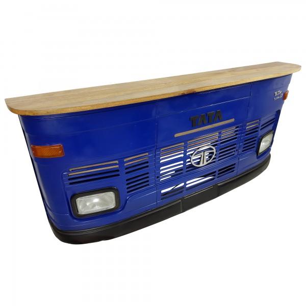 Theke Tresen LKW Front Tata Blau Empfangstresen Empfangstheke Vintage Design Bar