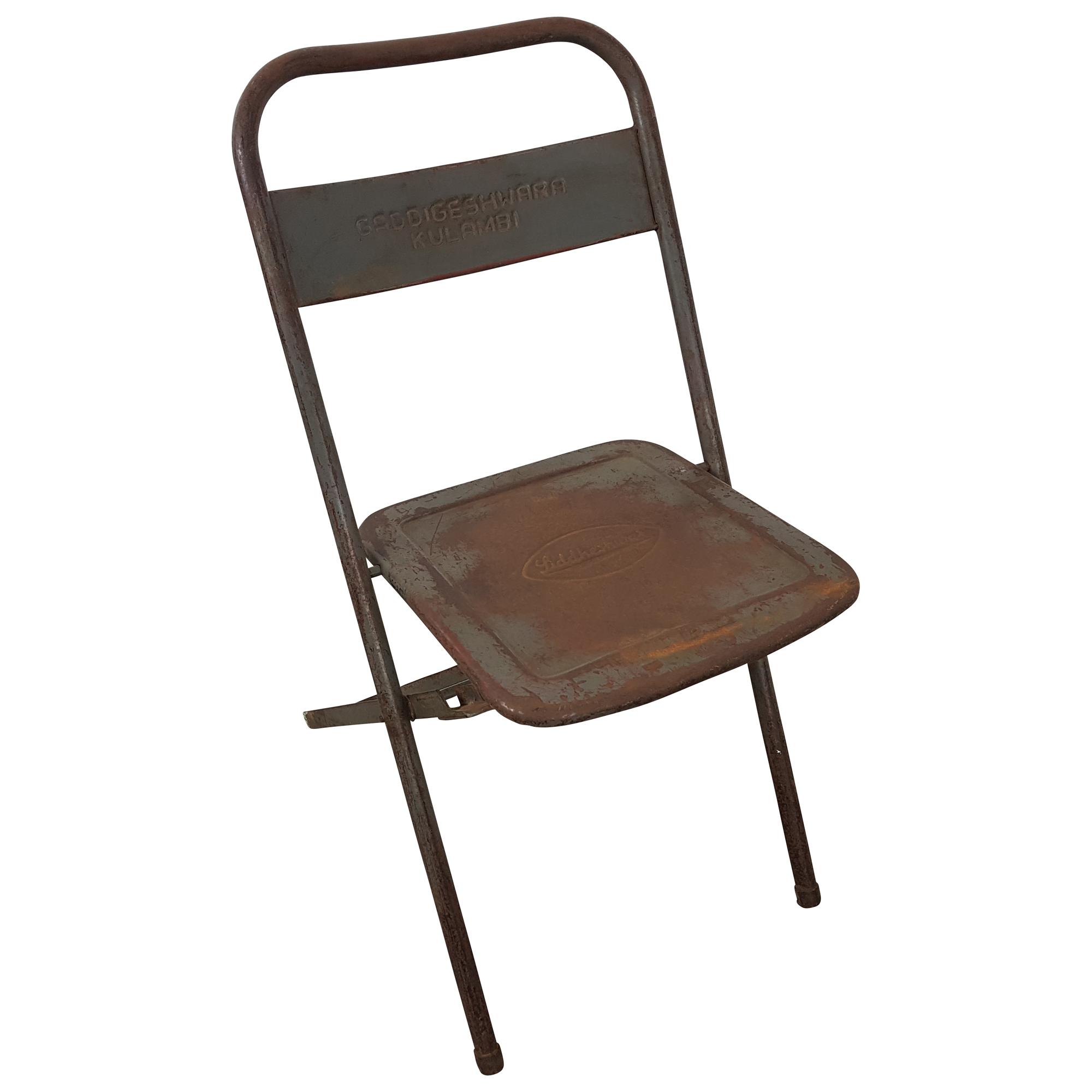 Klappstuhl Metall Stuhl Gastro Bistro Industrial Style