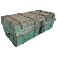 Alter Koffer Metall Vintage Metallkoffer alte Kiste Metalllkiste shabby Unikat 4