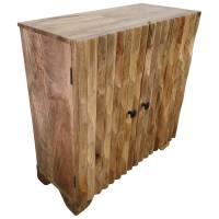 Kommode Schrank Sideboard Mango Holz geschnitzt Surprise Puzzle Natur Design