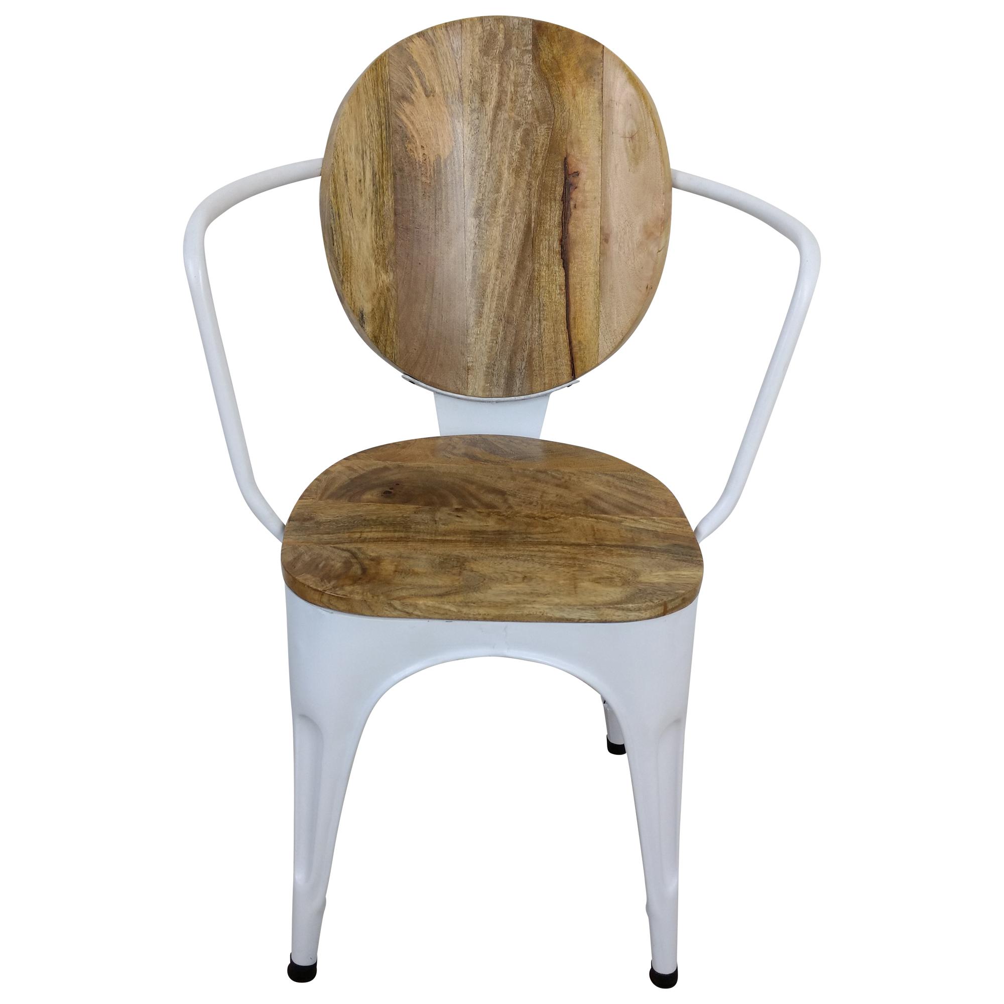 Esszimmerstuhl Industrie Stuhl Weiß Art Design Massivholz Handarbeit Industrial Rcj354LqA