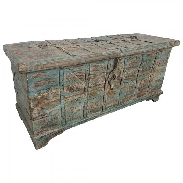 Truhe Kiste Holztruhe Box Massiv Vintage Antik Alt Einzelstück Handarbeit Unikat