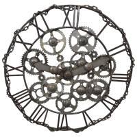 Deko Wanduhr groß xxl Uhr Zahnrad 95 cm Massiv Metall Vintage Lounge Loft Art