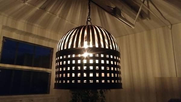 Industrie Design Deckenlampe Hängelampe Ø45 cm Theke Lounge Loft Fabrik Edison