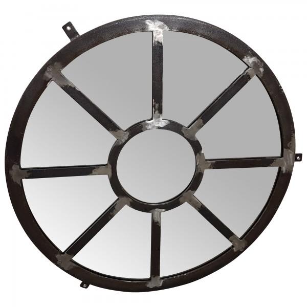 Spiegel Wandspiegel silber Ø 75 cm Metall Deko Rund Industrie Industrial Design