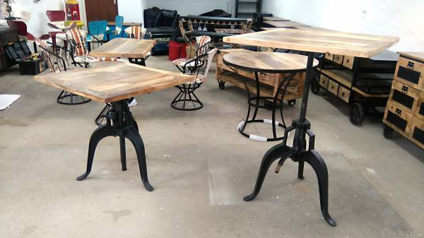 tisch industrial design 76 cm esstisch crank table. Black Bedroom Furniture Sets. Home Design Ideas