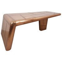 Couchtisch Wohnzimmertisch Sofatisch Loungetisch Aviator Kupfer-Fahrbig Design