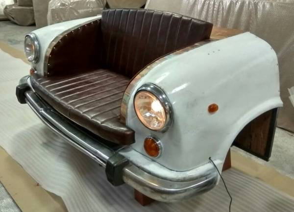 Taxi Auto Front Sofa Tuk Tuk Vintage Couch Shabby Sitzbank Industrie Design