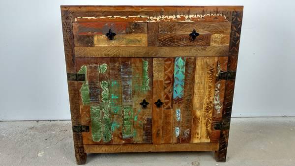Unikat Sideboard Kommode 85 cm Recycelt Massivholz Massiv Holz Vintage Shabby