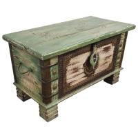 Holztruhe Vintage Truhe Holz Shabby Kiste Holzkiste Box Lagerung Massiv Unikat 8
