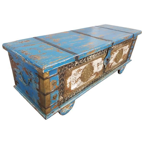 Truhe Kiste Holztruhe Vintage Massiv Box aus Altholz Antik Handarbeit Unikat 8