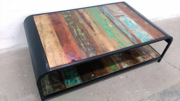 Couchtisch Wohnzimmertisch Sofa-Tisch Loungetisch reclaimed recycling Vintage