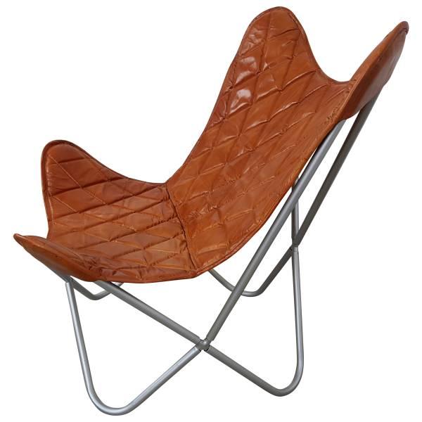 Butterfly Chair Sessel Design Lounge Stuhl Leder braun