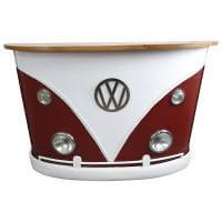 Theke Tresen Bulli Front rot weiß Empfangstresen Empfangstheke Vintage Design