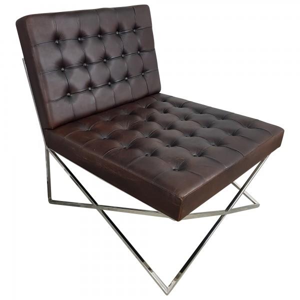 club sessel lounge sessel schwarz braun leder barcelona bauhaus designer chair sessel. Black Bedroom Furniture Sets. Home Design Ideas