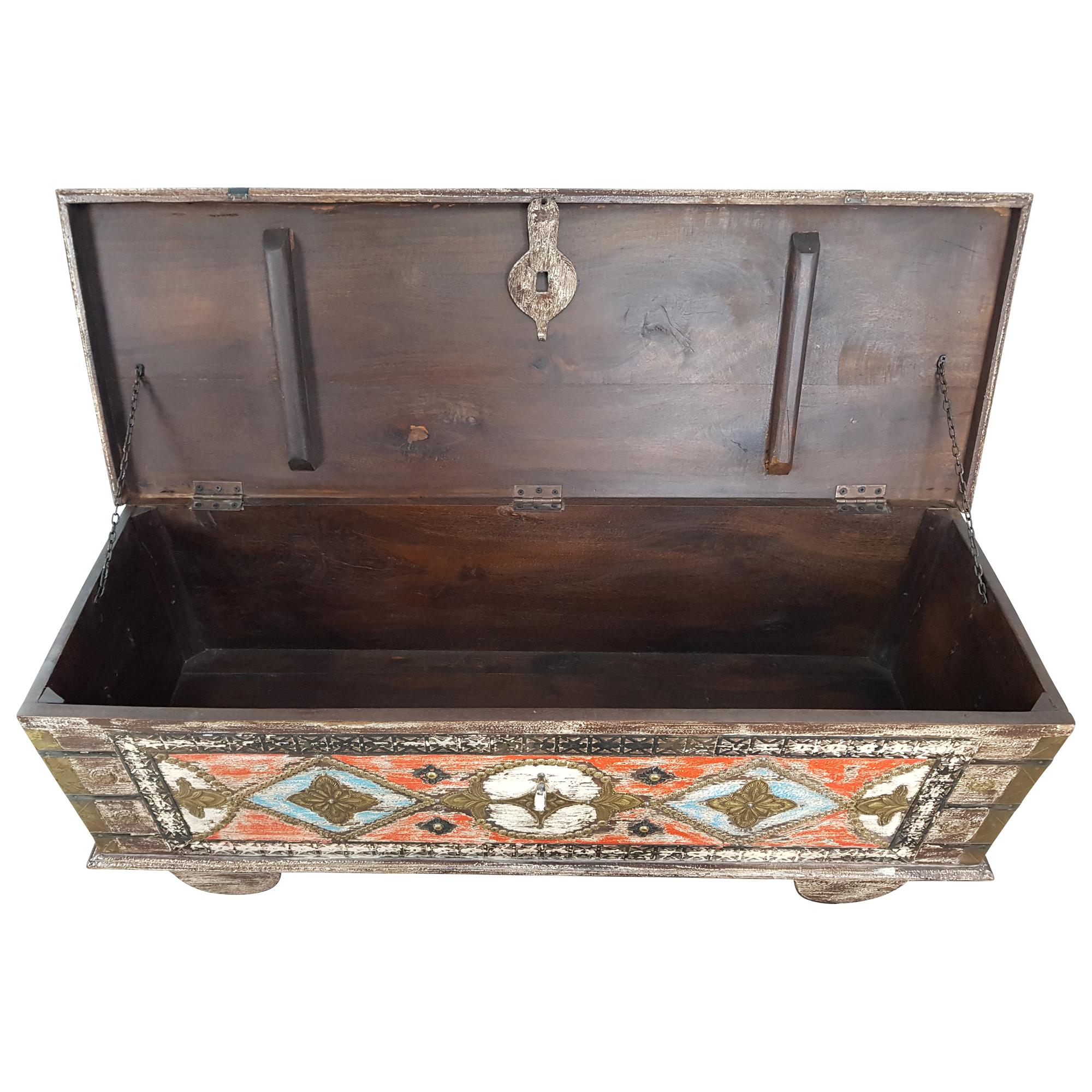 Truhe Kiste Holztruhe Vintage Massiv Box Aus Altholz Antik