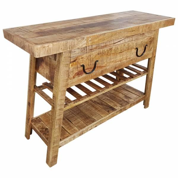 Kommode Schrank Sideboard Massiv Mango Holz Industrial Style Modern