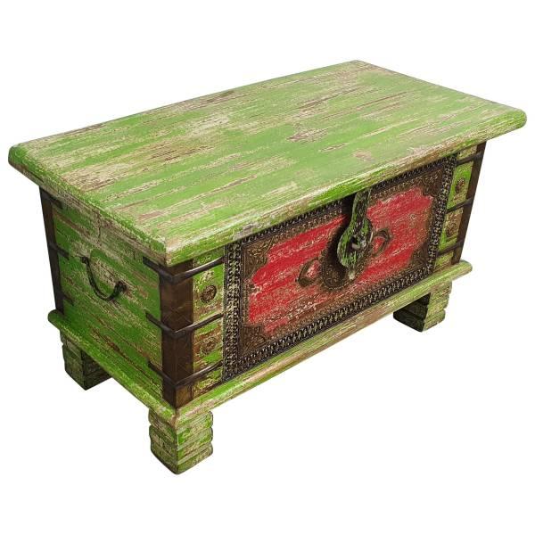 Holztruhe Vintage Truhe Holz Shabby Kiste Holzkiste Box Lagerung Massiv Unikat 3