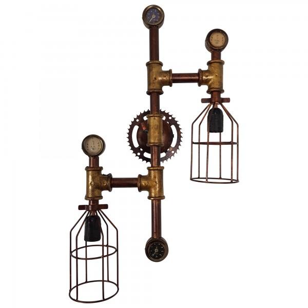 Wandleuchte Wandlampe Pipe Eisen Rohr Industrial Industrie Retro Vintage Design