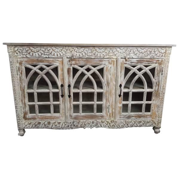 Sideboard Kommode Anrichte Schrank Glas Design Holz Vintage Shabby
