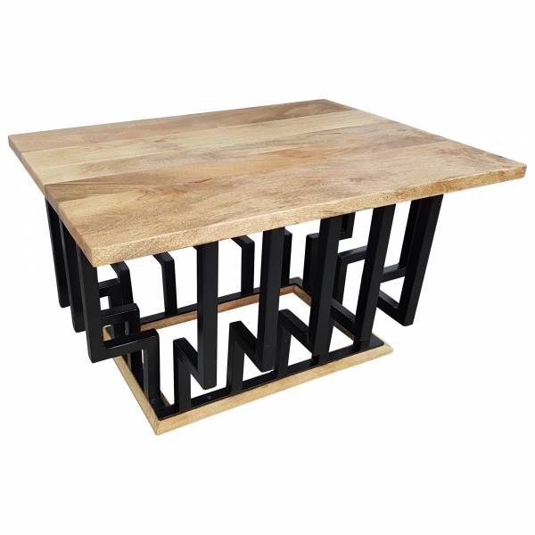 Couchtisch Lounge-Tisch Mango Massiv-Holz Bar Bistro Cafe Loft Industrial