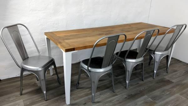 Stuhl Stapelbar Esszimmerstuhl Vintage Retro Space Metall Industrie Design