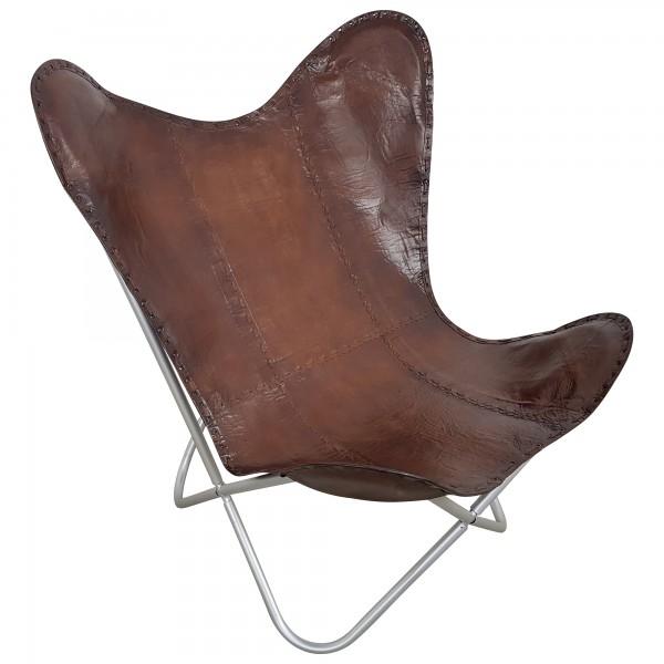 Butterfly Chair Design Sessel Lounge Stuhl echt Leder