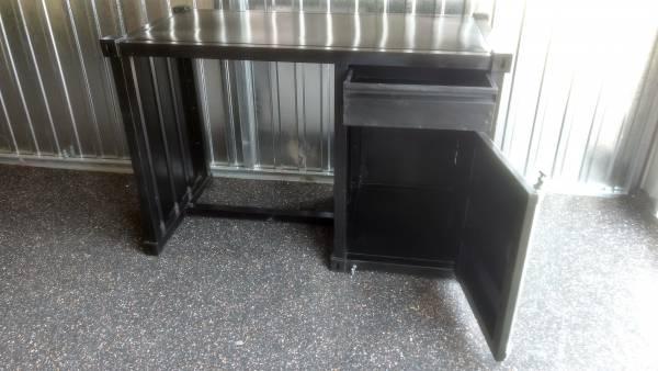 Schreibtisch Container Mobel Metall Schwarz Industrie Design