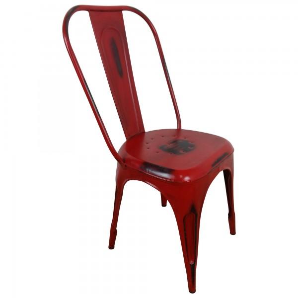 Bistro-Stuhl Esszimmerstuhl Stapelbar Industriedesign Metall Retro Vintage Loft