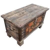 Holztruhe Vintage Truhe Holz Shabby Kiste Holzkiste Box Lagerung Massiv Unikat 31
