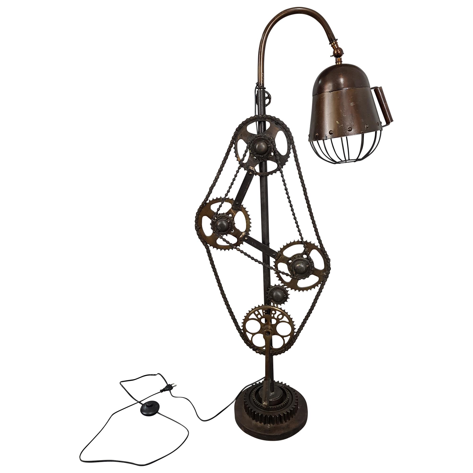 Stehlampe Leuchte Steampunk Pipe Industrial Industrie Retro