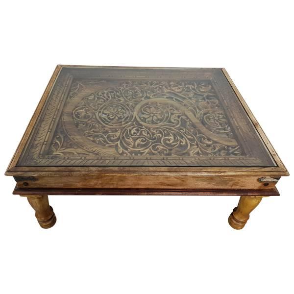 Couchtisch Wohnzimmertisch 110x90 Indischer Bajot Orientalischer Orient Tisch