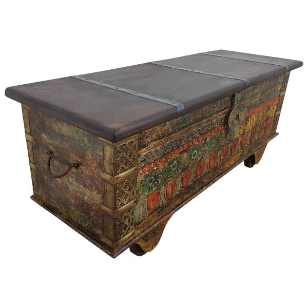 Truhe Kiste Holztruhe Vintage Massiv Box aus Altholz Antik Handarbeit Unikat 13
