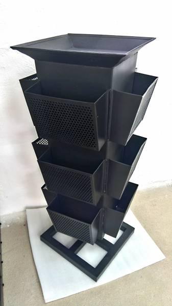 Prospektständer Katalogständer Din A4 Lang Drehbar 12 Fächer 4 Etagen Art Design