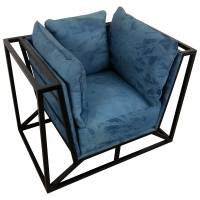 Sessel Clubsessel Lounge Relaxsessel CANVA Designer Armcair Loft Industrie Jeans