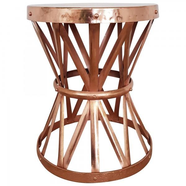beistelltisch ablagetisch kupfer rund metall loungetisch tisch hammerschlag ebay. Black Bedroom Furniture Sets. Home Design Ideas
