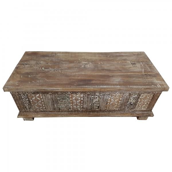 truhe kiste holztruhe vintage massiv holz box aus altholz antik t ren handarbeit ebay. Black Bedroom Furniture Sets. Home Design Ideas