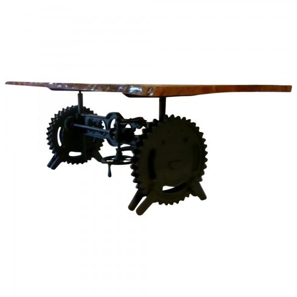 Esstisch Esszimmer-Tisch Baumstamm Massiv-Holz Industrial Design Crank Table