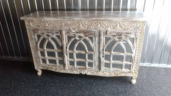 Sideboard Kommode Anrichte Schrank verspiegelt Design Holz Vintage Shabby Chic