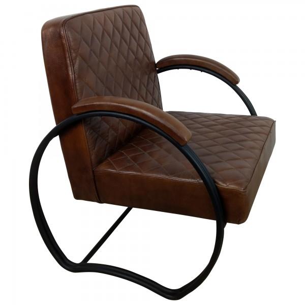 sessel clubsessel lounge leder in coffee braun designer 20er jahre armcair loft sessel. Black Bedroom Furniture Sets. Home Design Ideas