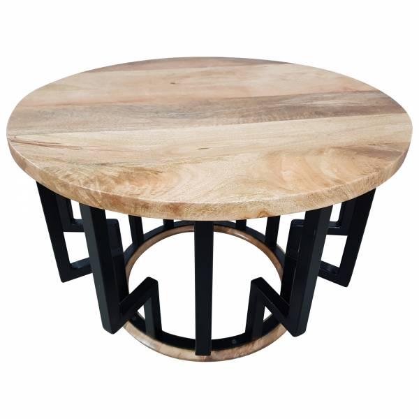 Couchtisch Lounge Tisch Mango Massiv Holz Rund 70 O Bar Bistro Cafe