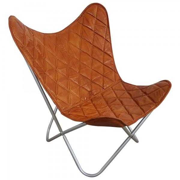 butterfly chair design sessel lounge stuhl echt leder braun loungesessel retro m bel. Black Bedroom Furniture Sets. Home Design Ideas