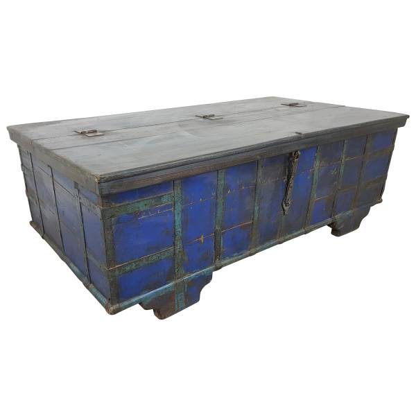 Truhen-Tisch Couchtisch Holz-Kiste Wohnzimmertisch Aufbewahrung Vintage Massiv