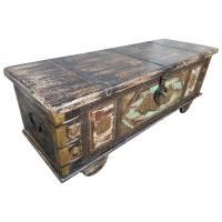 Truhe Kiste Holztruhe Vintage Massiv Box aus Altholz Antik Handarbeit Unikat 2