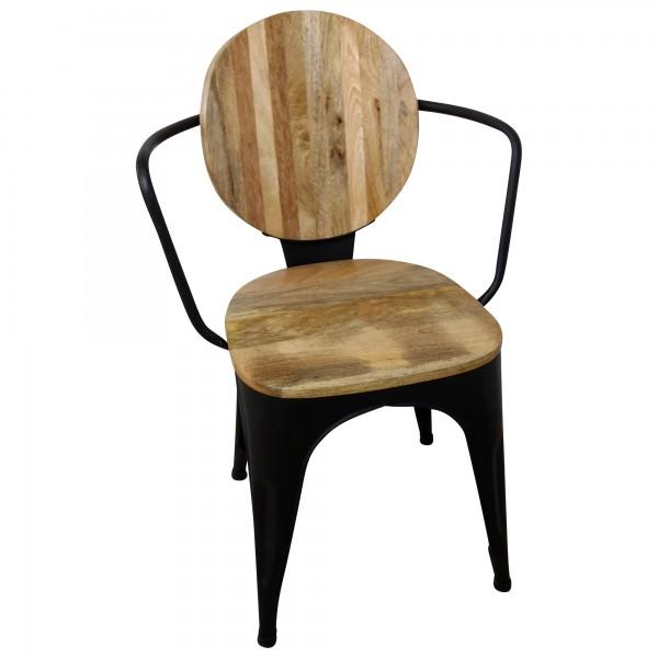 stuhl schwarz esszimmerstuhl industrie design massivholz handarbeit industrial st hle st hle. Black Bedroom Furniture Sets. Home Design Ideas