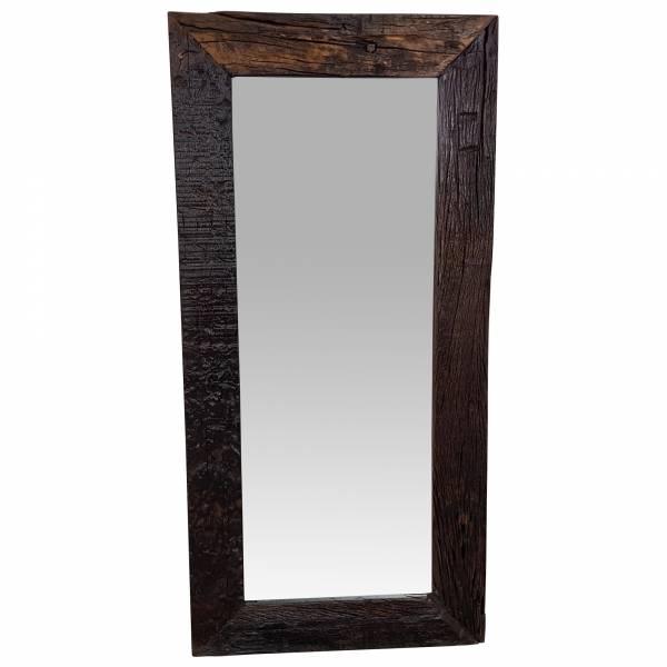 Wandspiegel Spiegel Holz Treibholz Schwemmholz Kolonial Antik braun