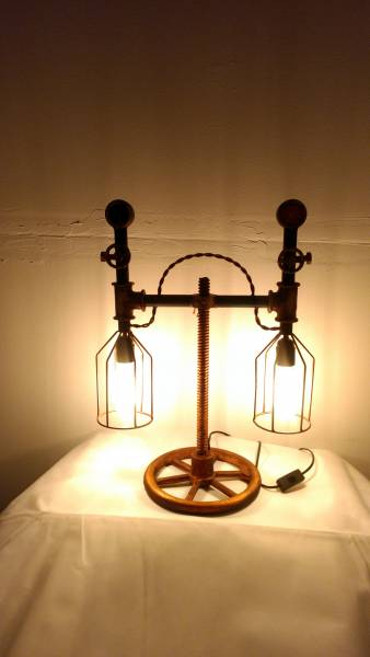 lampe tischleuchte pipe steampunk industrial industrie art retro vintage design ebay. Black Bedroom Furniture Sets. Home Design Ideas